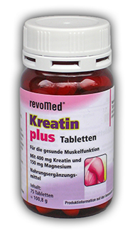 75 Tabletten a 400mg Kreatin + 150mg Magnesium